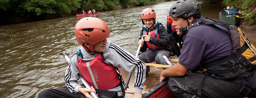 Canoeing at YHA Summer Camps