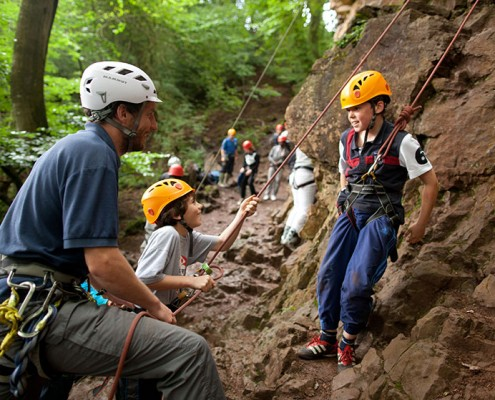 Climbing at YHA Summer Camps